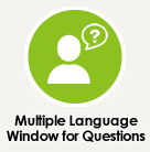 Multiple Language Window for Questions